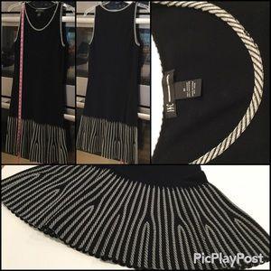 INC Knit Dress, Black w/ White design, SZ.M